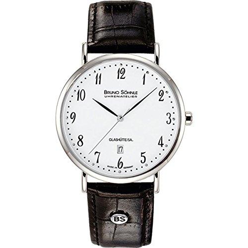 Bruno Söhnle Damen Analog Quarz Uhr mit Leder Armband 17-13085-921