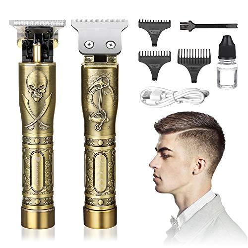 Elektrischer Haarschneider für Männer, GLAMADOR Profi USB Haarschneidemaschine, Haarscherer mit 3 Präzisionstrimmer, wiederaufladbar, schnurlos, T-Klingen, Trimmer-Set, Bestes Geschenk