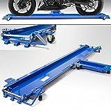 BITUXX Motorrad Rangierhilfe fur Seitenständer Rangierschiene Motorrad Rollwagen Rolli Für...