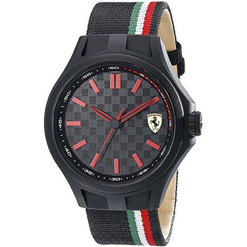 Ferrari Pit Crew–Reloj de Pulsera analógico de Cuarzo Nylon 0830215