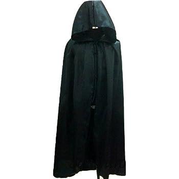 三四郎市場 変装用 衣装 ドラキュラゴースト マント フード 黒 大人XLサイズ