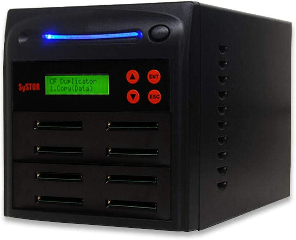 Systor 1 to 7 Compact Flash CF Duplicator - 2GB/Min - Standalone Multiple Memory Card Copier/Eraser, Speeds Up to 33MB/Sec (SYS-CFD-7)