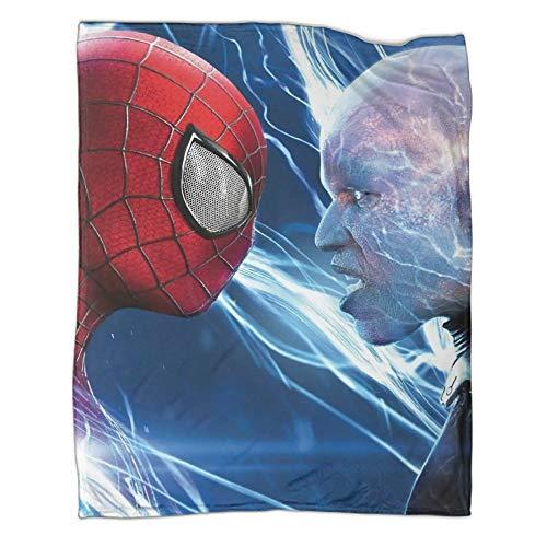 DRAGON VINES Movie The Amazing Spider-man 2 Standoff Electro Cool Manta para niños, transpirable, acogedora, cálida manta de 150 x 200 cm