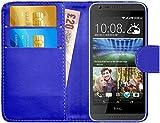 G-Shield Hülle für HTC Desire 620/620g Klapphülle mit Kartenfach - Blau