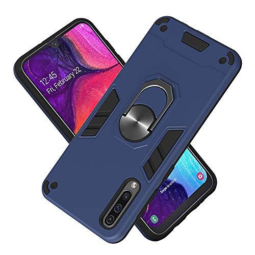 Hülle für Samsung Galaxy A50S mit Standfunktion, PC + TPU Rüstung Defender Ganzkörperschutz Hard Bumper Silikon Handyhülle stossfest Schutzhülle Case (Königsblau)