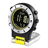 Lixada Smart Watch Höhenmesser Barometer Kompass LED Clip Uhr Sportuhren Angeln Wandern Klettern...