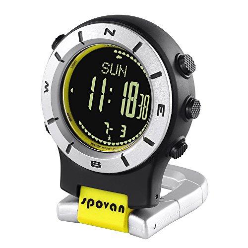 Lixada Smart Watch Höhenmesser Barometer Kompass LED Clip Uhr Sportuhren Angeln Wandern Klettern Taschenuhr