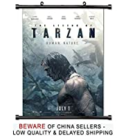 Image: The Legend of Tarzan Movie Fabric Wall Scroll Poster (16x24) Inches