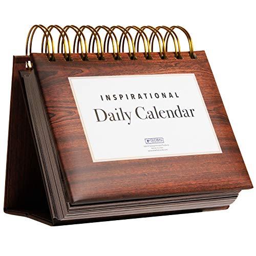 Motivational & Inspirational Perpetual Daily Flip Calendar with...