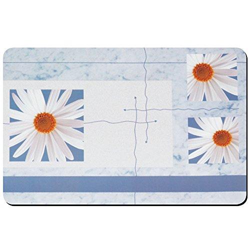 kela Set de Table Fleur 43x28,5cm en PP Plastique, Blanc/Bleu, 43,5x28,5x1 cm
