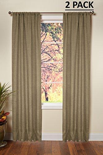 Baumwolle Craft–100% Jute Jute Rod Pocket Window Panels natur–Set of 2–aus umweltfreundlichen 100% aus natürlicher Jute, Sonstige, natur, 48 x 96