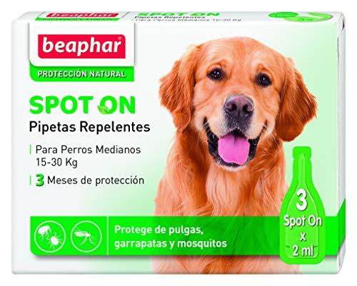 Beaphar pipetas repelentes, Perro Mediano, 3 Unidades