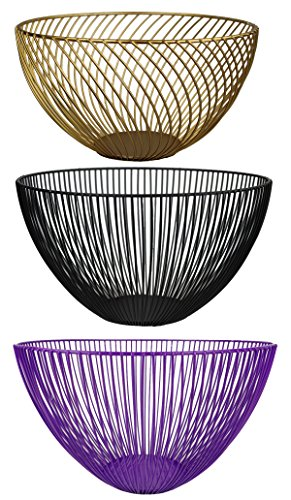 GMMH Corbeille à fruits en métal - Panier cadeau - Panier décoratif - Couleur au choix (or)