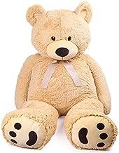 LotFancy 5 Foot Giant Teddy Bear Stuffed Animal Plush, Cuddly Big Teddy Bear, Large Stuffed Teddy Bear Plush Toy with Big Footprint, Gifts for Girls Girlfriend Wife, 5.3 Feet