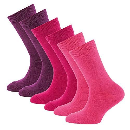 Ewers Kindersocken für Jungen und Mädchen, handgekettelt 6er Pack, MADE IN EUROPE, Socken uni Baumwolle