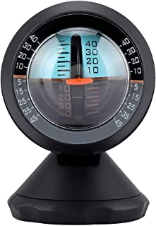 車傾斜計、レベル傾斜ゲージインジケータ360度回転のグラジエントバランサツールは、オフロード車と自転車走行用の簡単な取り付けのための接着剤付き