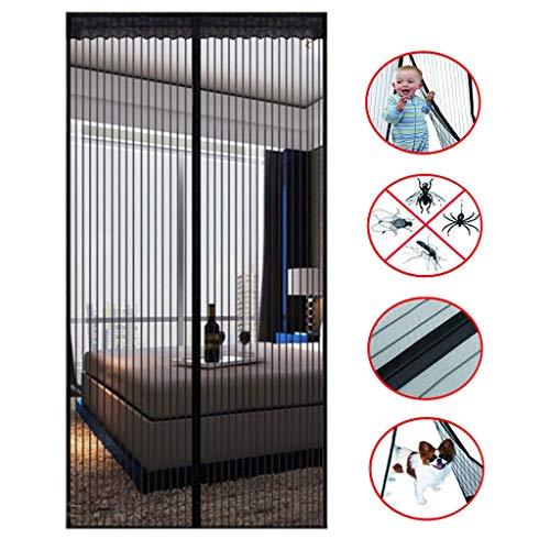 BWBW Mosquitera Puerta magnetica 70×210 cm,Mosquiteras para Puertas con Poderoso Imanes y Marco Completo Velcro para Cocina Cuarto Sala de Piano Sala de Estar,28x80in/70x200CM