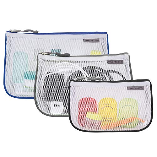 Travelon Set of 3 Assorted Piped Pouches