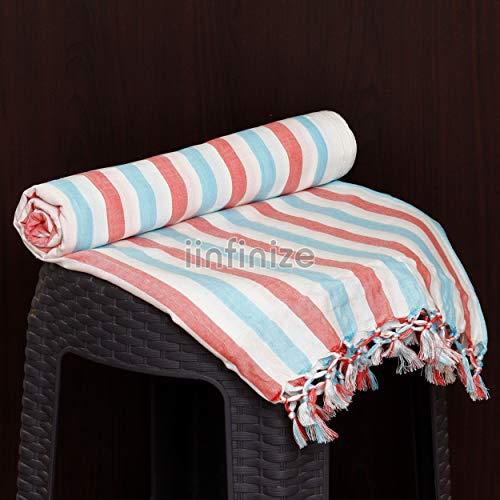 iinfinize - Colcha de cama de algodón suave al tacto de 150 x 200 cm