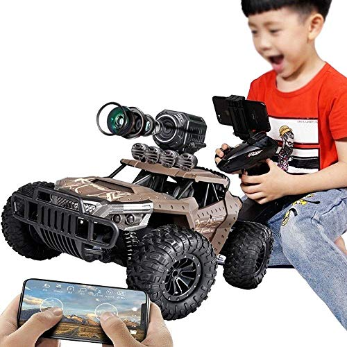 MIEMIE Voiture Tout Terrain RC Haute Vitesse, 2.4Ghz APP Control RC Cars Off-Road Rock Crawler Vehicle Military Monster Truck Army Car Gift for Kids and Adults