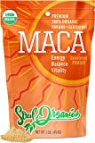 Soul Organics Maca Powder - USDA Organic and Gelatinized for Enhanced Bio-availability, 1 Pound