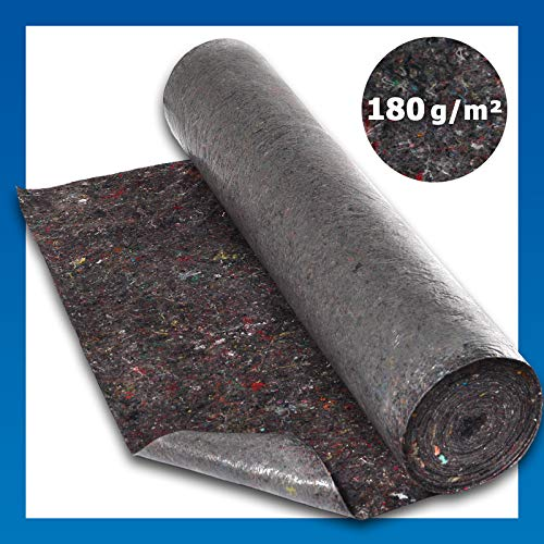 Malervlies Rolle ca. 1 x 50 m = 50 m² Abdeckvlies sehr gute Premium Qualität mit PE Anti-Rutsch-Beschichtung 180g/qm stark