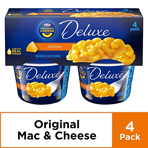 Kraft Deluxe Original Cheddar Macaroni & Cheese Cups (2.39 oz Cups, Pack of 4)