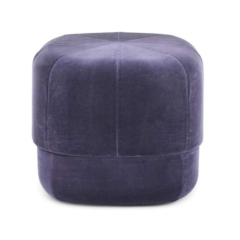 通知常習者ホテルメタル化粧スツール パッド入り 立方体 プーフ オスマン フットスツール 化粧ドレッシングバニティスツール フットレスト 靴の交換ベンチチェアシート 紫の ベルベット 多機能 布張り 最大荷重300KG (高さ:40cm)