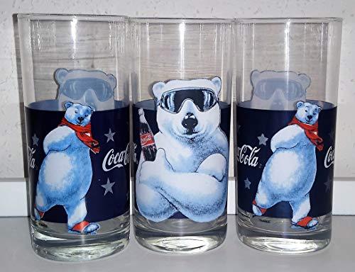 Coca-Cola - Verres en verre / Luminarc / Armes à glace / Rétro / Vintage / 3 x 0,2 cl