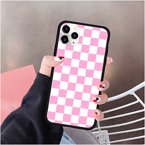 Checkerboard Phone Case Compatible with iPhone 12 12 Pro Max Mini SE 2020 Hard Cover Grid Lattice Plaid Tartan Damier Chessboard Checker Flag Compatible with iPhone 12 Pro Max - Style 7