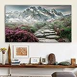 ganlanshu Pintura sin Marco Paisaje Arte póster y Lienzo impresión póster decoración del hogar Arte de la paredZGQ5424 50X90cm