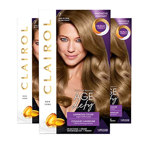 Clairol Age Defy Permanent Hair Color, 7 Dark Blonde, 3 Count