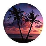 Tropical hawaiano de playa Palm árbol verano sol redondeadas...