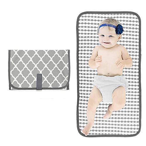 ZYCH Almohada 4 Piezas Cambiador Portátil de Pañales para Bebé Impermeable Kits para Cambio de Pañales Cambiador de Viaje Colchones Plegables para Cambiador Forros (Color : Gray)