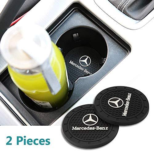 QINGTECH Car Coasters for Cup Holders,2pcs Silicone Anti Slip Car Cup Holder Coaster for Car,Universal Car Coasters Fit for Mercedes-Benz Accessories