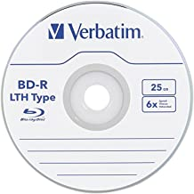 Verbatim 25GB 6X Blu-ray Single-Layer Recordable Disc BD-R LTH Low to High, 20 Disc Spindle 97344