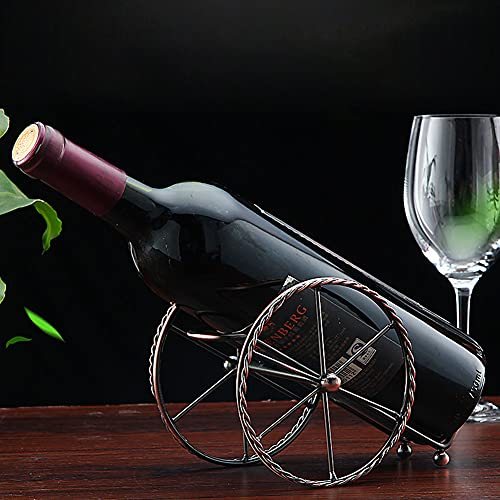 Portabottiglie da bancone – Supporto per vino – Supporto per vino in metallo rosso bronzo – Portabottiglie da tavolo