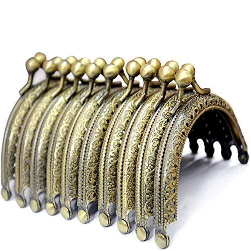 BROADREAM Chiusure di Borsa/Portafoglio,Chiusure Clasp para Portafoglio Borsa a Mano,10 Pezzi 8.5cm DIY Borsetta Vintage Accessori Maniglia per Borse