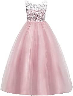Girls Lace Wedding Party Dress Bridesmaid Flower Girl Maxi Dresses