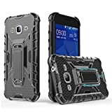 Phone Case for Samsung Galaxy S3 with Metal Kickstand Stand Heavy Duty Hybrid Hard Rugged Shockproof Dual Layer Silicone Protective Cover Cases Compatible Galaxy S3 S III I9300 GS3 Black+Gray