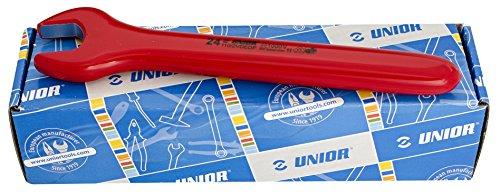 Unior 612676 612676-Juego Llaves fijas de una Boca aisladas en Caja de cartón 10 a 24 mm Serie 110/2VDEDPCB, Negro