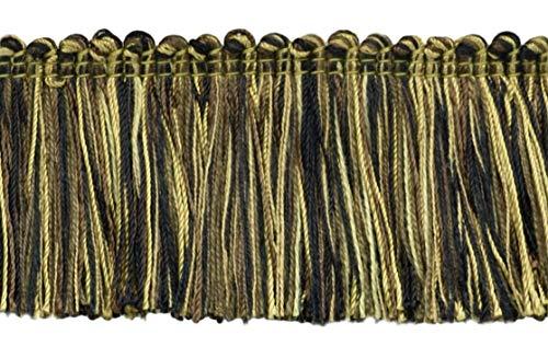 4.6 Meter Value Pack of Veranda Collection 51mm Brush Fringe Trim Dark Brown, Brown, Taupe, Black  Style#: 0200VB  Color: Mesquite - VNT20 (15 Ft / 5 Yards)