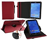 Emartbuy® Medion LifeTab P9701 9.7 Zoll Tablet PC Universal (9-10 Zoll) GepolsterteDesign Burgandy 360GradRotierendeStandFolioGeldbörseTascheHülle + Schwarz Eingabestift