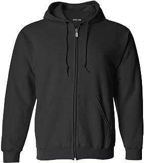 Joe's USA Mens 9-Ounce Heavyweight Big & Tall Fleece Full-Zip Hooded Sweatshirt