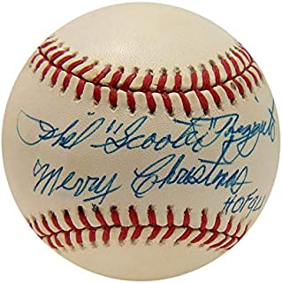 "Phil""Scooter"" Rizzuto Signed Inscribed Baseball. PSA"