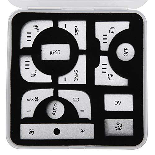Cubierta del interruptor, etiqueta engomada del botón de la etiqueta engomada del botón del aire acondicionado para el coche