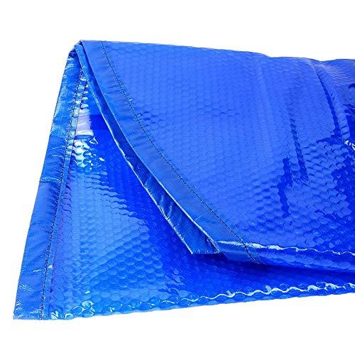 Cobertor Solar Piscinas Burbuja Azul Rectangular Cubierta de Piscina para Piscinas Hinchables...