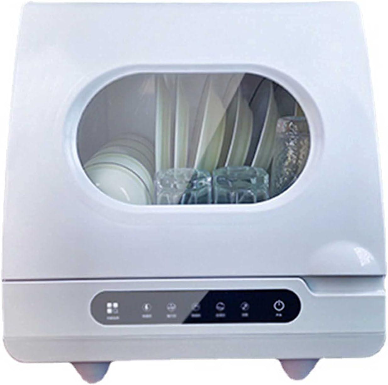 MOSHUO Lavavajillas portátil, pequeño lavavajillas doméstico de encimera con 4 programas de Lavado, Adecuado para Apartamentos pequeños, dormitorios y Casas rodantes (40 x 40 x 41,5 cm)