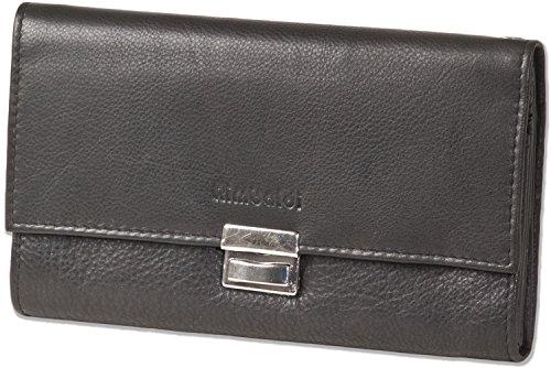Rimbaldi serveurs professionnels portefeuille avec extra-large poche /à monnaie renforc/é fabriqu/é /à partir de cuir souple de veau trait/ée en combinaison Noir//Naturel