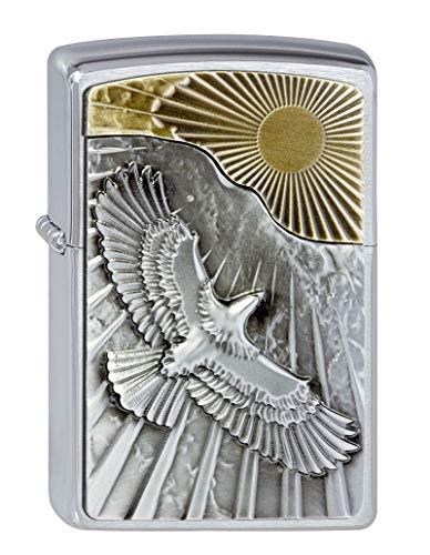 Zippo Zippo Feuerzeug 2003192 Eagle Sun-Fly Emblem Benzinfeuerzeug, Messing